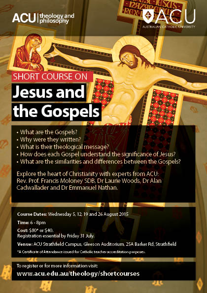 Short Course_Sydney_Jesus and the Gospels