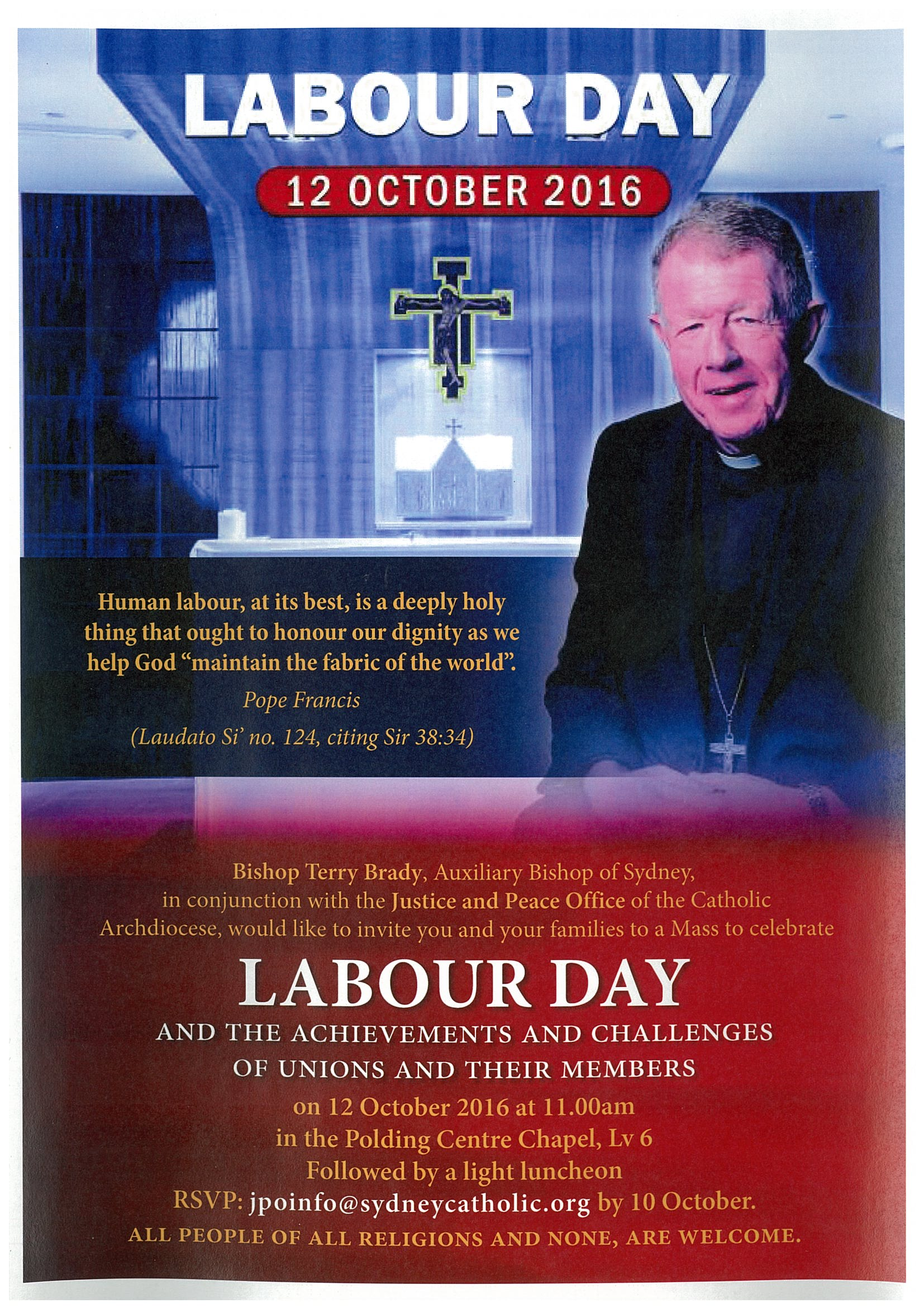 Labour Day  12 October 2016
