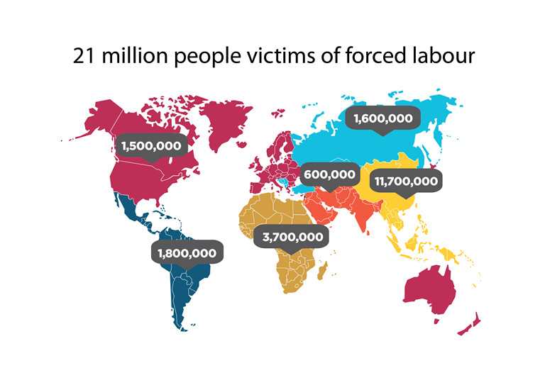 Above: Gobal Estimates on Forced Labour. Copyright © International Labour Organization2012